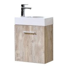 "KUBEBATH - Bliss 18"" Nature Wood Wall Mount Modern Bathroom Vanity - Bathroom Vanities and Sink Consoles"