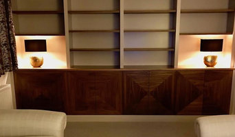 Built in Walnut Shelving & Cabinet