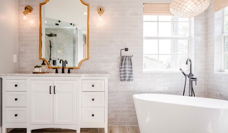 Florida Master Bath Gets a Coastal Look With a Touch of Glam