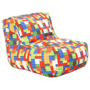 Prime Coaster Lazy Life Corner Bean Bag Transitional Bean Bag Machost Co Dining Chair Design Ideas Machostcouk