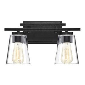 Calhoun 2 Light Bathroom Vanity Light in Black