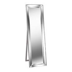 Chauncey Stand Mirror, Silver