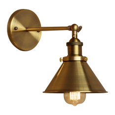 lamps next 1light wall sconce with metal cone shade brass wall