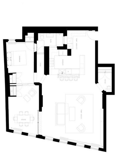 Contemporary Floor Plan by I-Beam Design