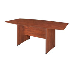 "Premium 71"" Boat Shaped Conference Table, Cherry"