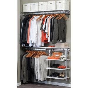 Modular Closets Wood Shelf Tower Contemporary Closet