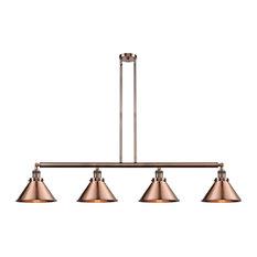 Briarcliff 4-Light LED Island Light, Antique Copper, Shade: Antique Copper