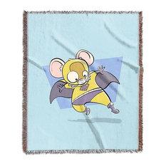 """Mouse, Superhero Animal Art"" Woven Blanket 50""x60"""