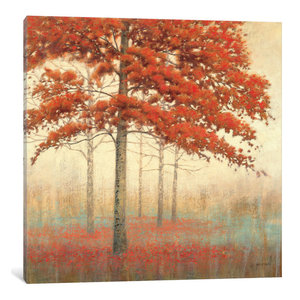 """Autumn Trees II"" by James Wiens, Canvas Print, 37""x37"""