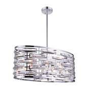 "27"" 6-Light Chandelier, Chrome Finish"