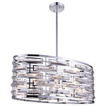 Crystal World - Petia 6-Light Drum Shade Chandelier, Chrome - This breathtaking 6-Light Drum Shade Chandelier with Chrome finish is a beautiful piece from our Petia collection. With its sophisticated beauty and stunning details, it is sure to add the perfect touch to your decor.