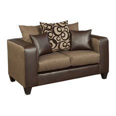 Flash Furniture - Riverstone Object Espresso Chenille Loveseat - Sectional Sofas  sc 1 st  Houzz : chenille sectional sofas - Sectionals, Sofas & Couches