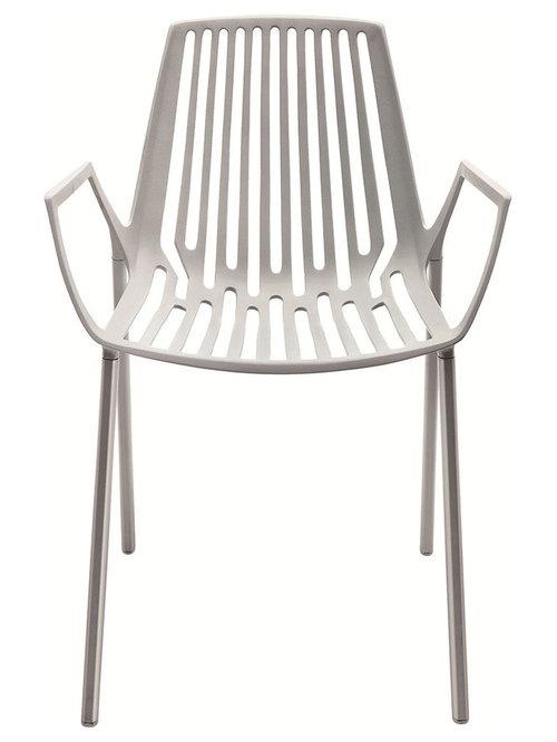 Rion Karmstol Stapelbar, Silver - Udendørs spisebordsstole
