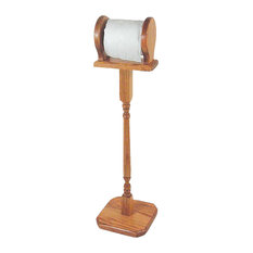 Amish Made Oak Free Standing Toilet Paper Stand/Holder