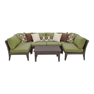 Manhattan 7 Piece Outdoor Wicker Patio Furniture Set, Cilantro By  TKClassics Looking For