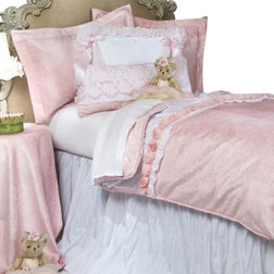 Trend Traditional Kids Bedding Anastasia Crinkle Children us Duvet French Pink Velvet With White