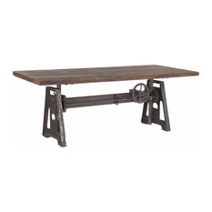 Industrial Steel Crank Adjustable Table