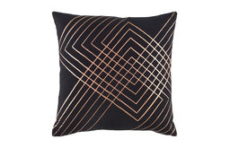 """Crescent by Surya Poly Fill Pillow, Black/Champagne, 20""""x20"""", CSC001-2020P"""