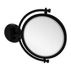 "8"" Wall Mounted Make-Up Mirror 5X Magnification, Matte Black"