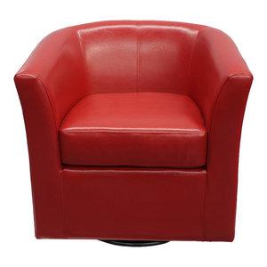 Emerald Home Furnishings Milo Swivel Chair Contemporary