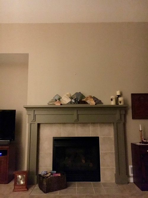 Need Help W Placement Of Art Piece Above Fireplace Mantle