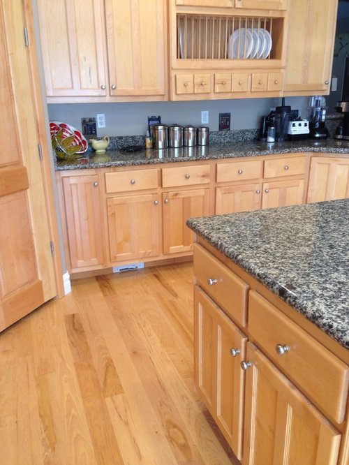 Re-staining kitchen floor and cabinets
