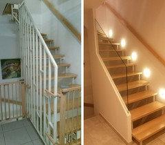 Gemauerte Treppengeländer treppengelände verschönern