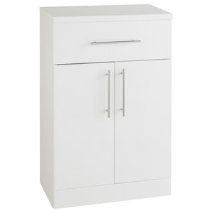 Impakt White Double Door Cabinet With Draw, 500x300 mm