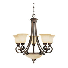 Millennium Oxford Chandelier/Ceiling Light, Rubbed Bronze