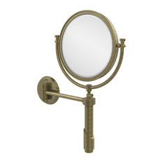 """Tribecca Collection Wall Mounted Make-Up Mirror 8""""Diameter With 2X Magnification"""
