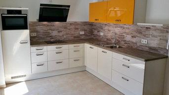 Einbauküche in L-Form