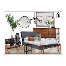 Boho Americana Bedroom Design Neutral Scheme with Scandinavian Decor