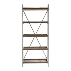 Industrial Iron Bookcase, Large