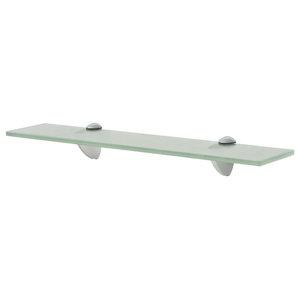 VidaXL Floating Shelf, Frosted, 8 mm, 50x10 cm