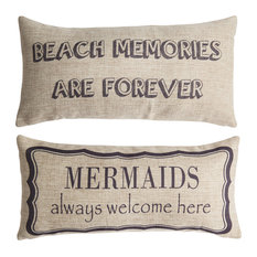 Beach Mermaid Coastal Sea Indoor Outdoor Pillow Beach Quotes Beach House