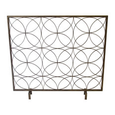 Toledo Metal Geometric Fireplace Screen