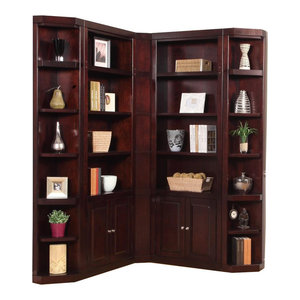 Parker House Boston 5-Piece Library Wall in Merlot 3