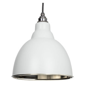 From The Anvil Brindley Pendant, Light Grey Smooth Nickel