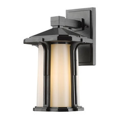 Z-Lite 542M-BK Harbor Lane 9-1/2 in.W 1 Light Outdoor Wall Sconce in Black with