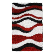 Noble House Pearl PEARL-2394 8'x11' Red, White, Black Rug