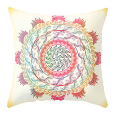 Bohemian Nature Mandala Pillow Cover