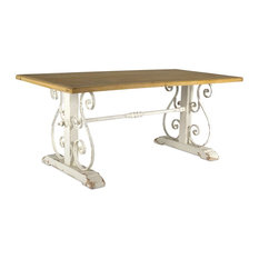 """Table 71"""" x 30.5""""H Wood/Iron"""