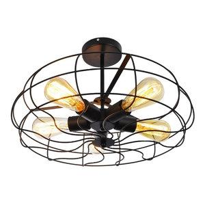 Ozzy Ceiling Fan Industrial Flush Mount Ceiling
