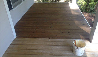 Small front porch with oil based wood toner