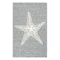 Hacienda Starfish Indoor/Outdoor Rug, Gray, 8'x10'