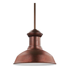 Sea Gull Lighting 1-Light Outdoor Pendant, Weathered Copper