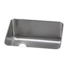 elkay   elkay eluh231712l gourmet lustertone stainless steel single bowl sink   kitchen sinks 12 deep kitchen sinks   houzz  rh   houzz com