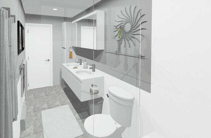 Thompson Family Bathroom - Rendering