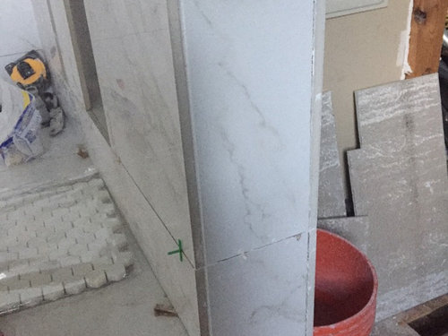 Edges Of 12x4 Porcelain Marble Look