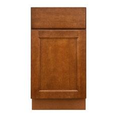 "Sunny Wood ESB18-A Ellisen 18"" Single Door Base Cabinet - Amber Spice"